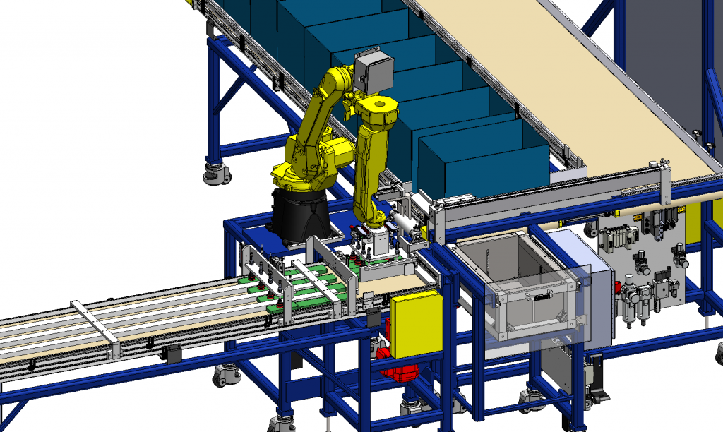 Robotic Cell, Asheville NC, EOAT, SolidWorks